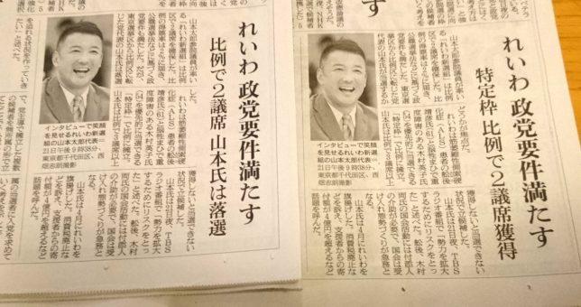 【新聞版数面建て調査】2019.7.22朝刊(2)朝日新聞