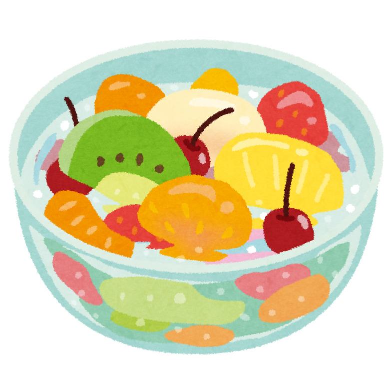 堺の給食の「温かいフルーツポンチ」