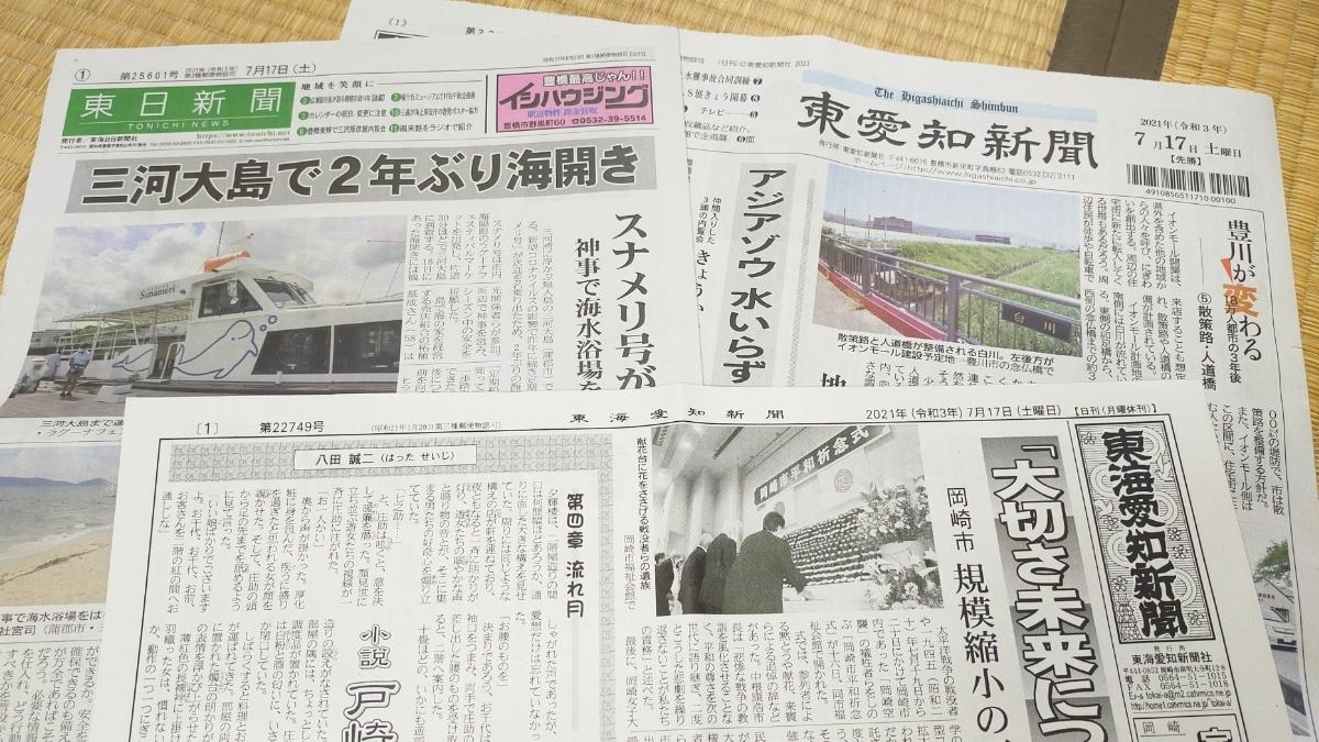 愛知県内の地域紙
